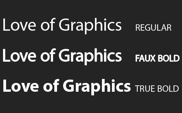 Typography for Motion Designers - do not use faux bolds