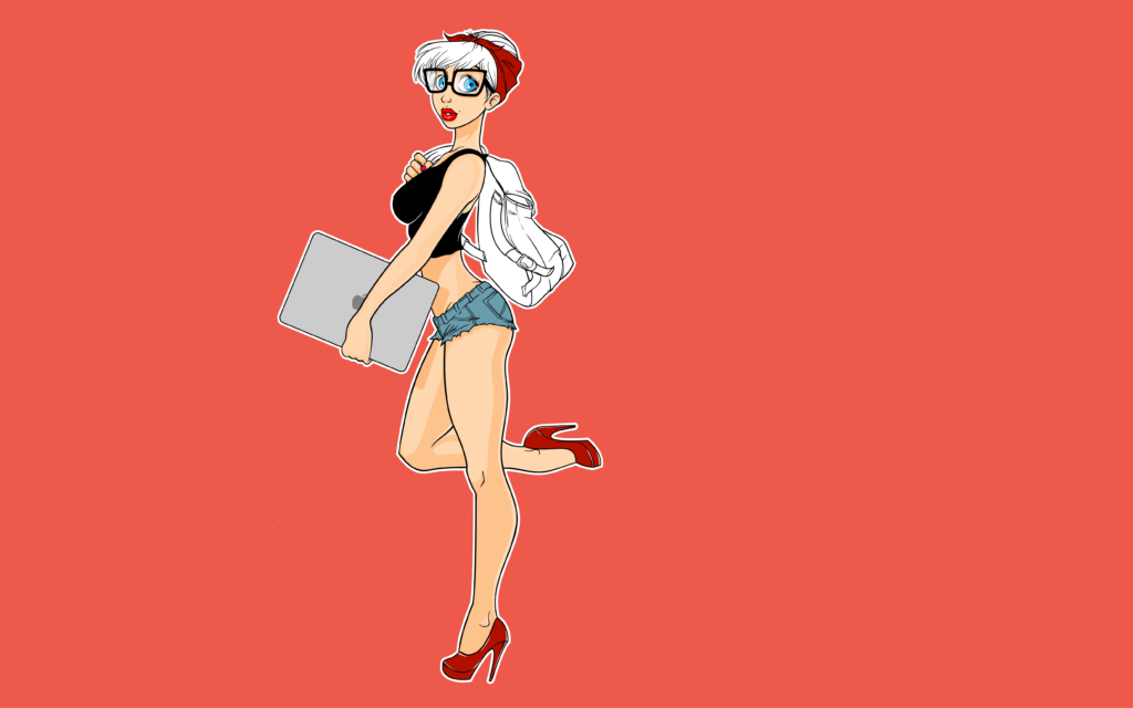 Pin-up character by Kasper Aaberg