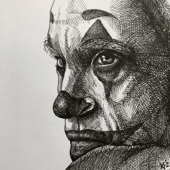 Joker - pen sketch - Kasper Aaberg